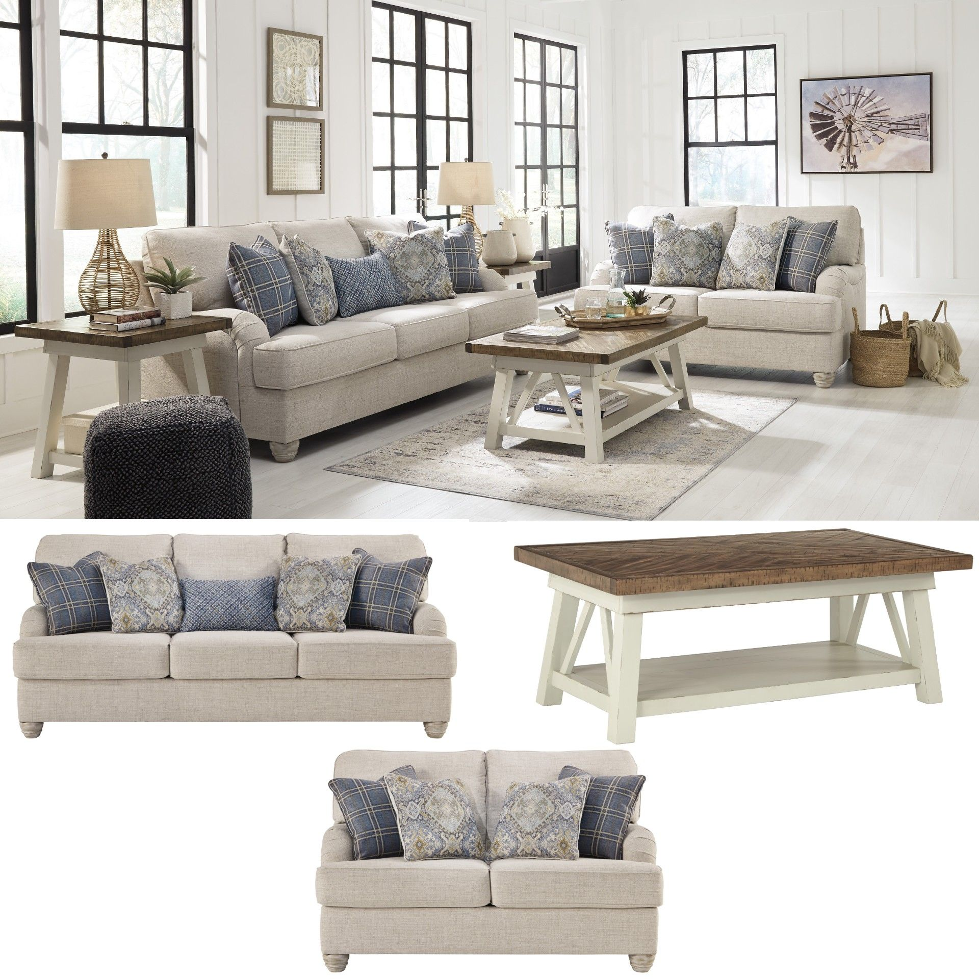 Traemore -Linen- 5PC Living Room Collection In 2020