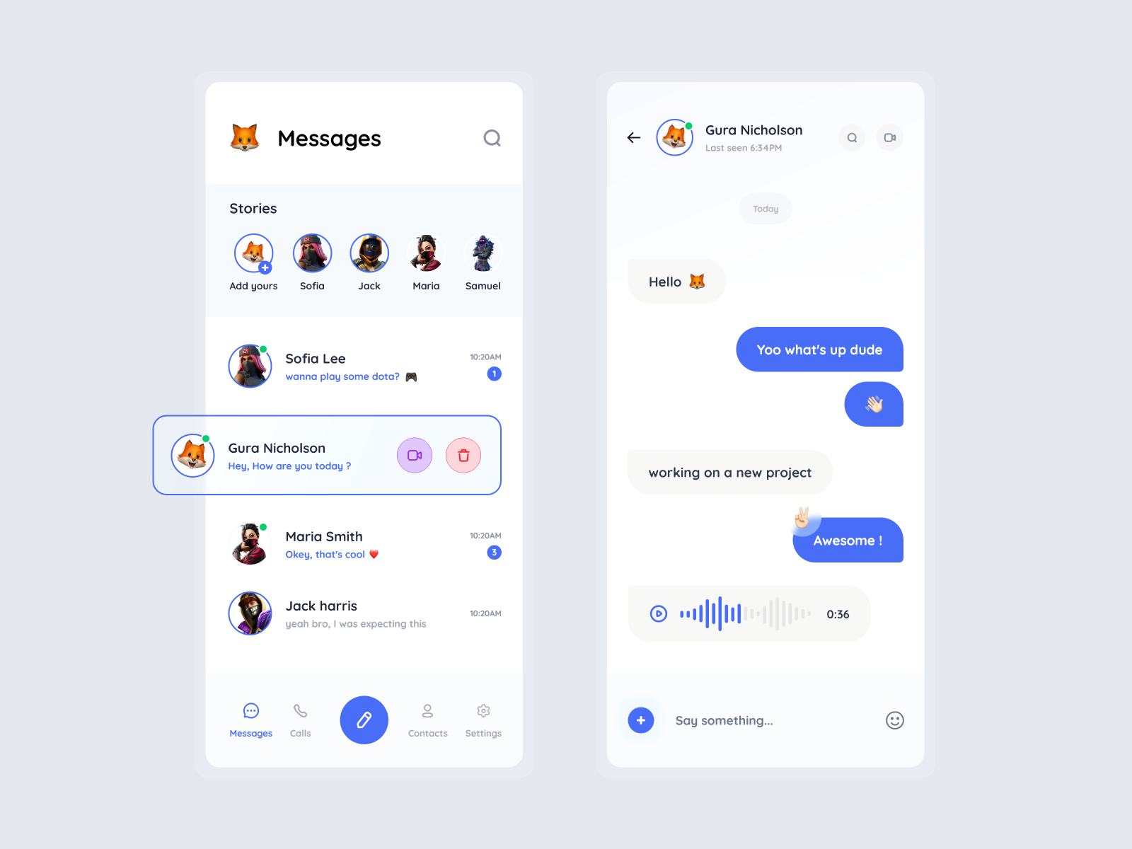 Messenger App Concept Design In 2021 Concept Design App Design Web Design