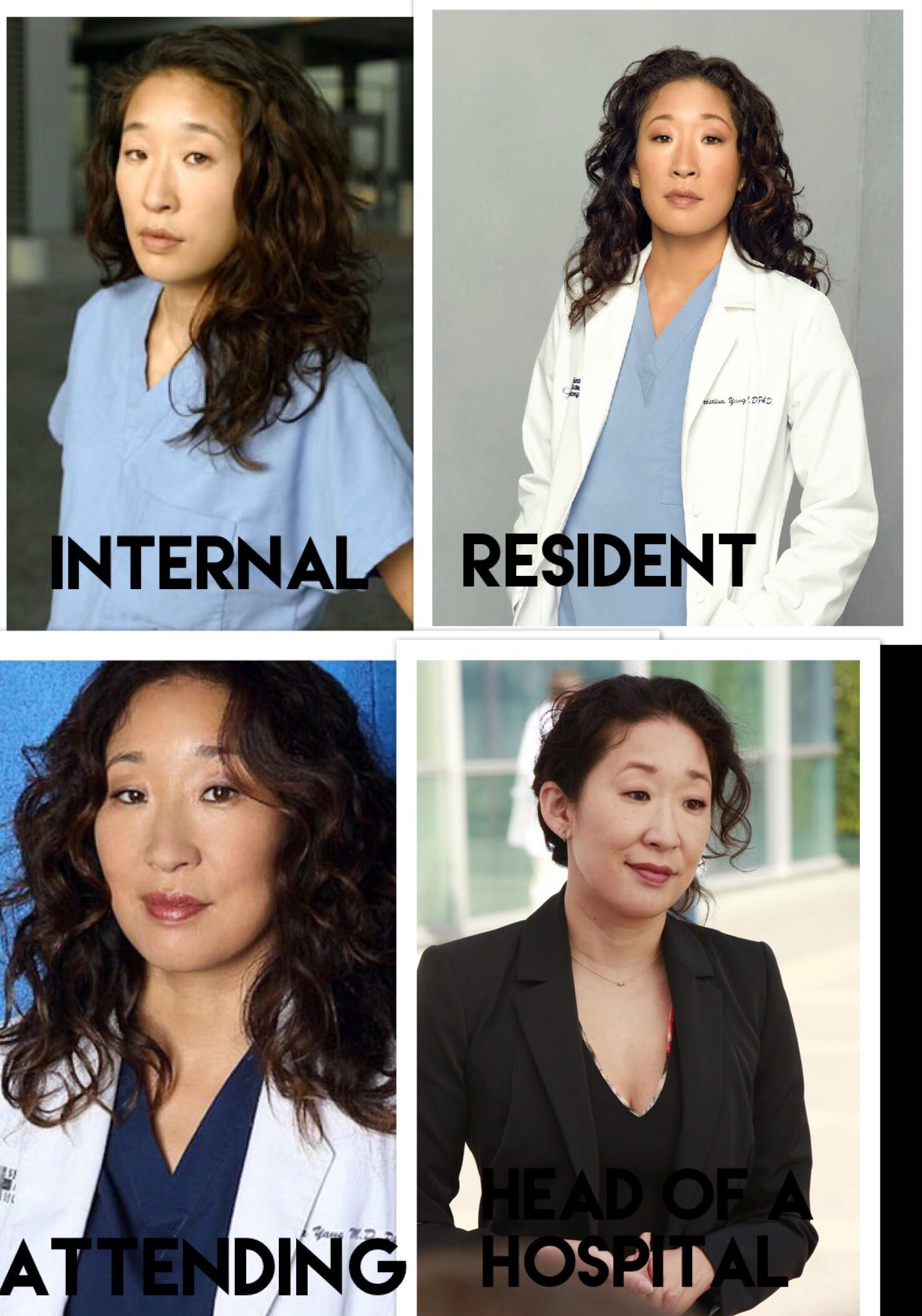 3c504769734 Cristina Yang's professional progression Greys Anatomy Scrubs, Greys Anatomy  Memes, Greys Anatomy Characters,