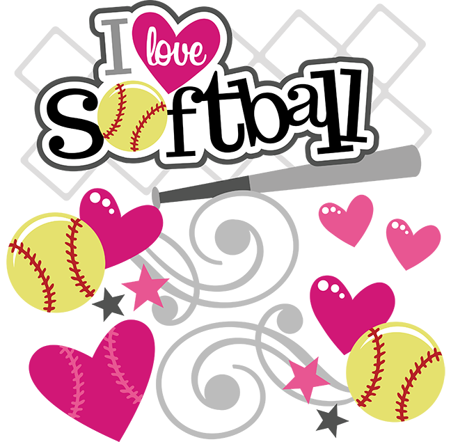 I Love Softball SVG softball svg file svg files for