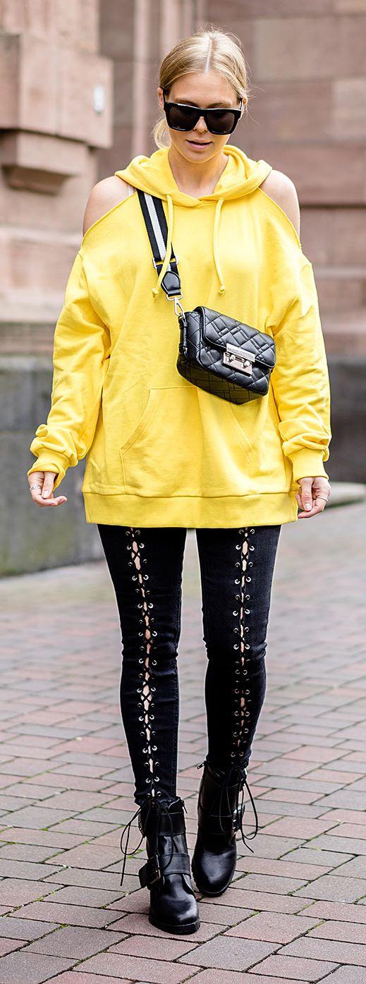 trendfarbe gelb wie trage ich sie im herbst my outfits my style pinterest leder. Black Bedroom Furniture Sets. Home Design Ideas