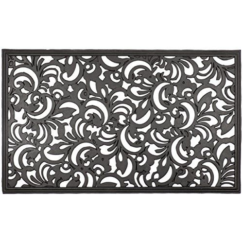 Outdoor Decor Entryways Scroll Flowers Recycled Rubber Doormat Check Out This Great Product Rubber Door Mat Door Mat Recycled Rubber