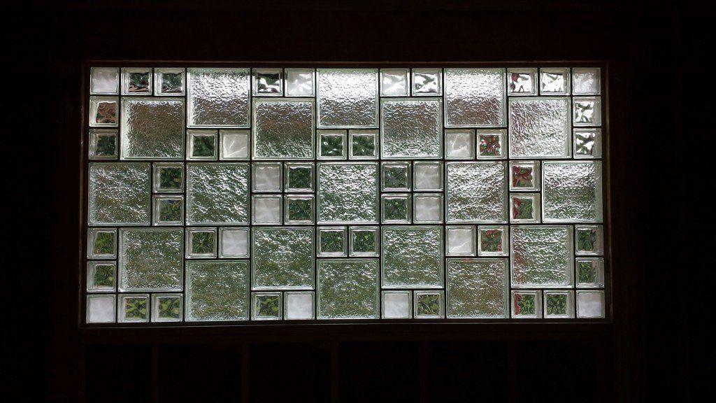Beautiful Glass Block Window Using Decora Mist And Decora Lx Blocks In Different Sizes Glass Block Windows Glass Block Shower Glass Block Basement Windows