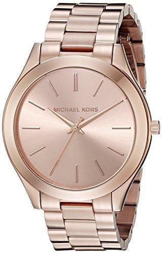 1dfbcef2f7f81 Michael Kors Women s Runway Rose Gold-Tone Watch MK3197   Michael ...