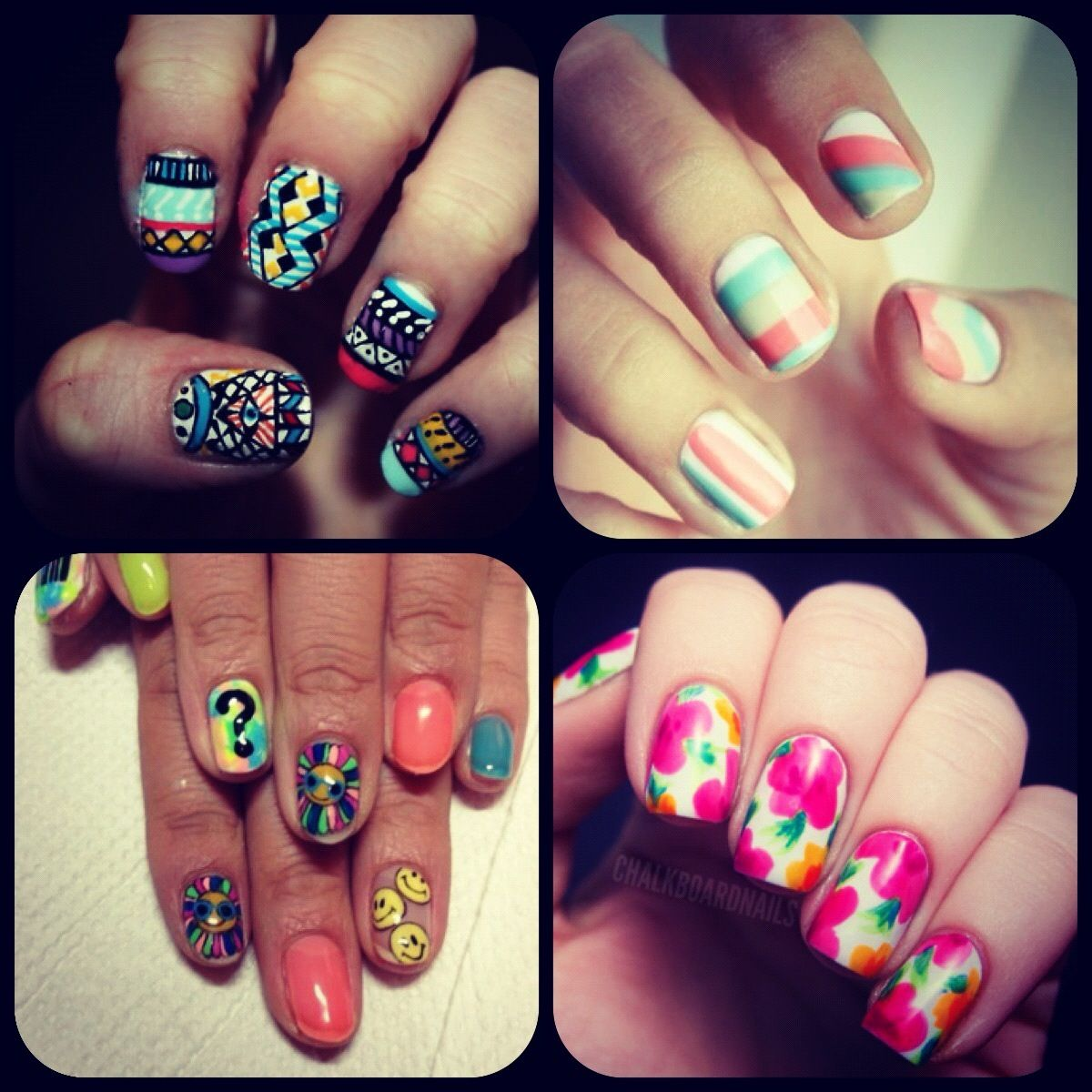 All Different Kinds Of Cool Nails Nails Pinterest Nail Nail