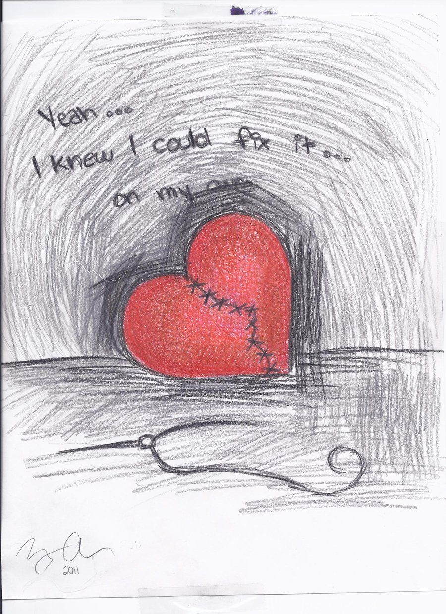 Broken Hearts Broken Heart Drawings Heart Drawing Drawings