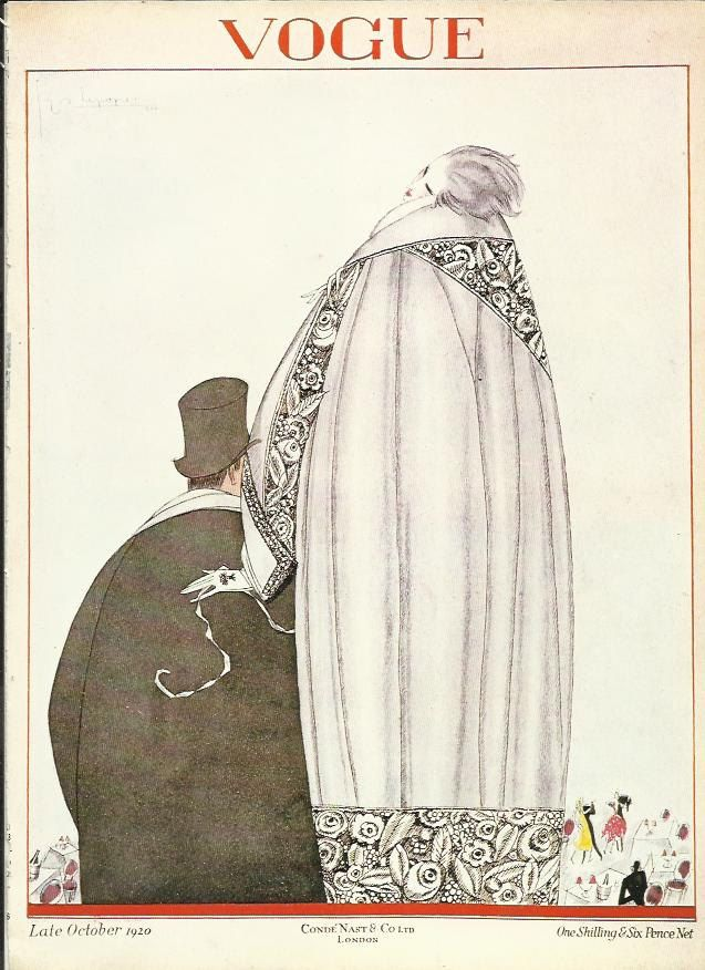 vogue magazine cover 1920 man woman fashion illustration vogue poster art deco home decor print fine art - Vogue Decor Magazine