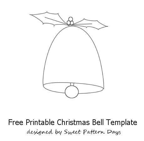 Christmas Bell Template Printable Fun Stuff Pinterest
