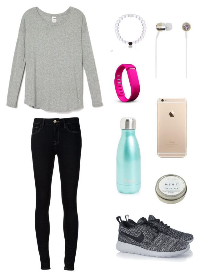 """""""FIT"""" by ktanner02 on Polyvore featuring Ström, Fitbit, S'well, Kate Spade, NIKE and CB2"""