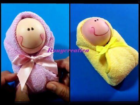 Manualidades faciles BEBE DE TOALLA   Baby Shower Souvenir   Baby - manualidades faciles