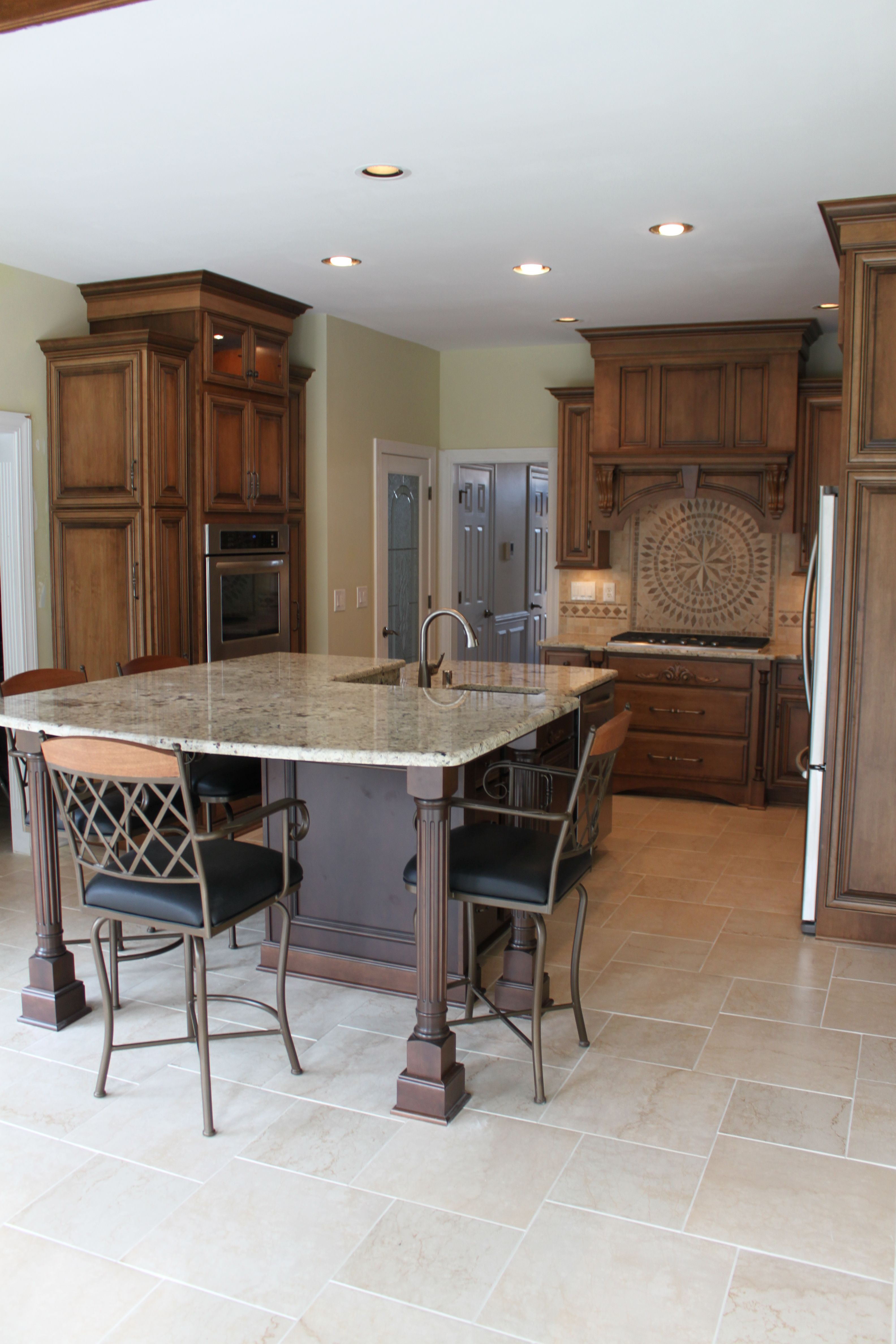 Superieur Shiloh Cabinetry. Maple Acorn With Vandyke Glaze On Perimeter, Maple Sable  With Black Glaze