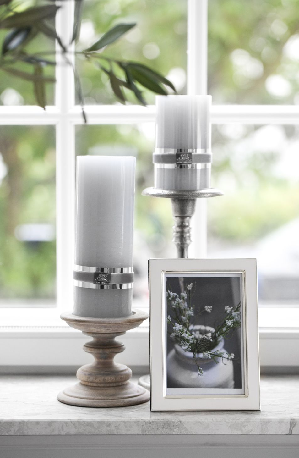RUSTIC candles, AUSTIN frame and DARLA candlestick. Lene Bjerre, spring 2014.