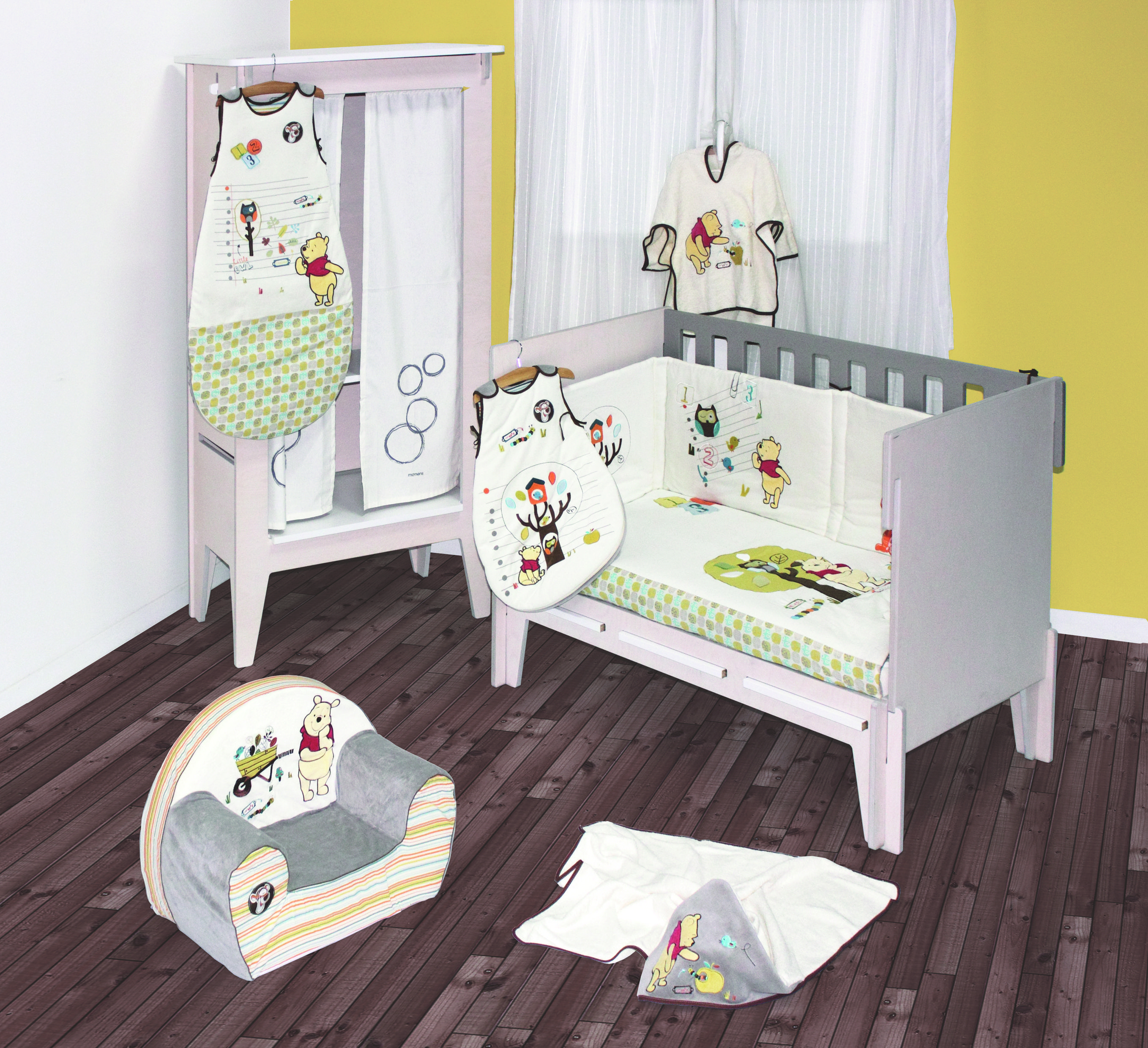 Ambiance winnie woodland babycalin nos ambiances pour - Collection chambre bebe garcon ...