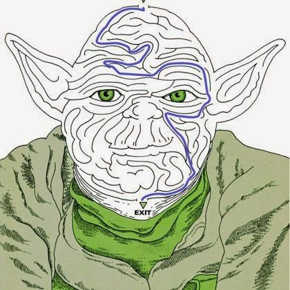 Craft Time: Yoda Face Maze Activity Page