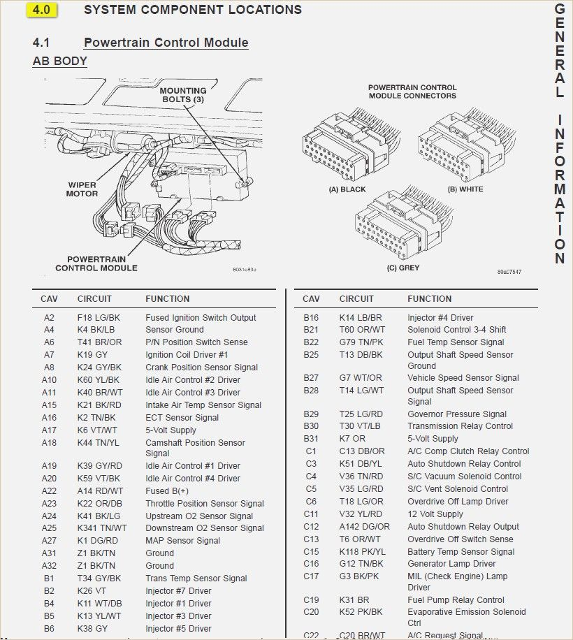 1996 Jeep Auto Shutdown Relay Circuit Location2 Wiring Diagram