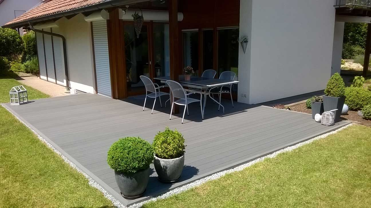 Top Line Komplett Set S 3m Terrassendielen Wpc