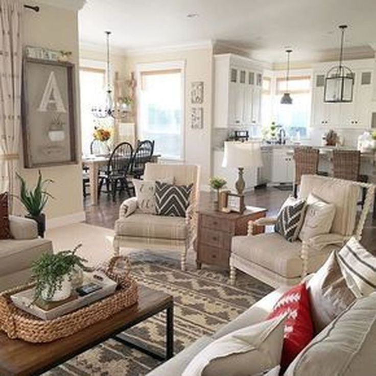 46 Cozy Living Room Ideas And Designs For 2019: 46 Cozy Farmhouse Living Room Decor Ideas 28 In 2019