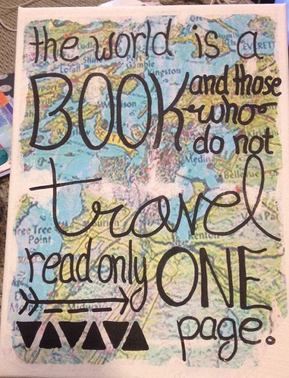Travel Canvas by AEMCraftsDesigns on Etsy