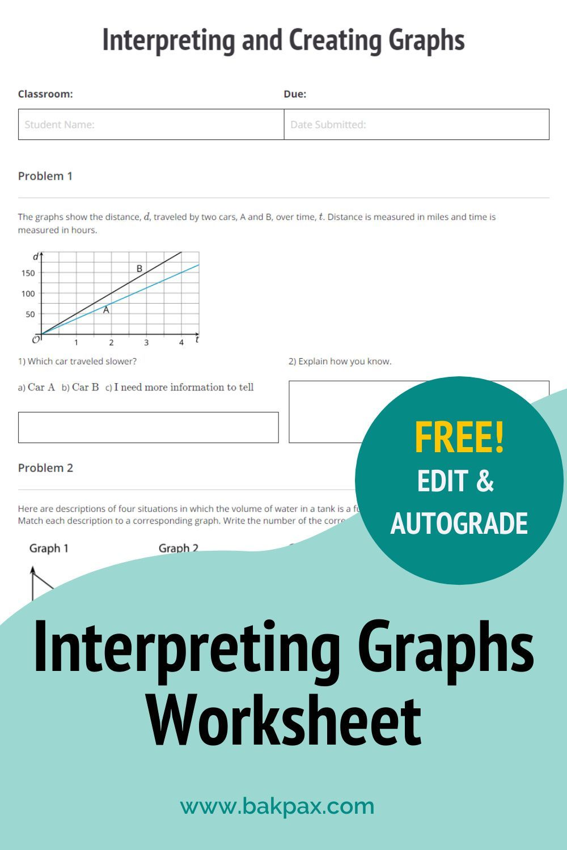 Free Interpreting And Creating Graphs Worksheet Free Algebra Algebra Worksheets Graphing [ 1500 x 1000 Pixel ]