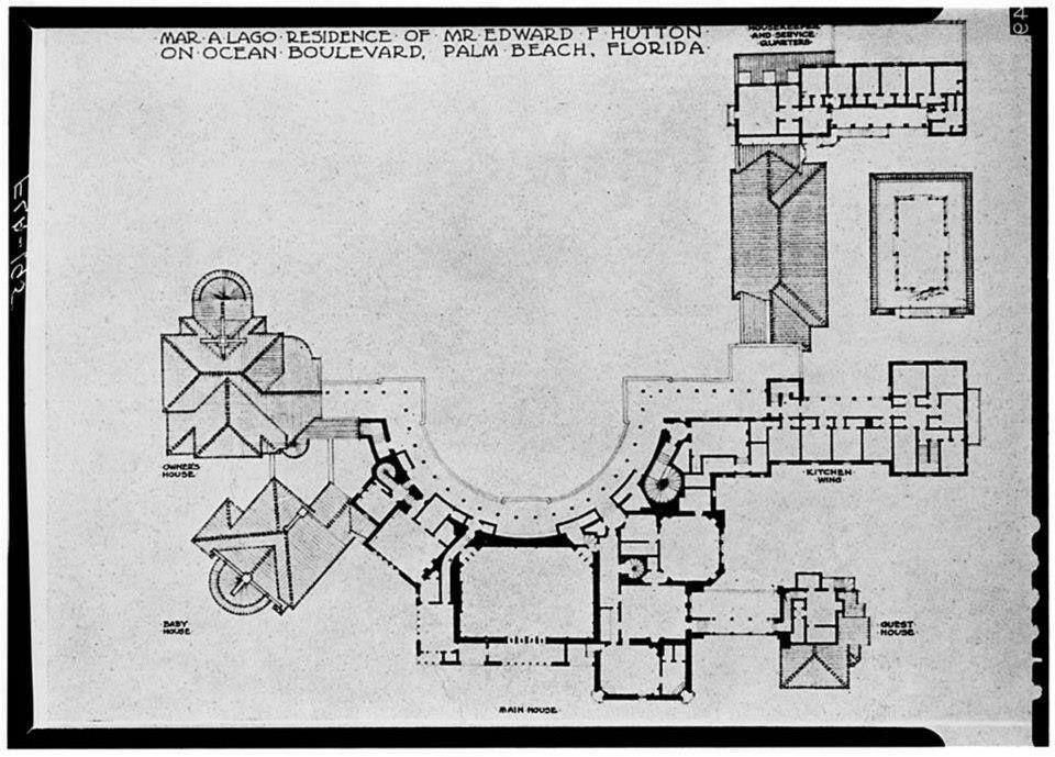 2nd Level Floor Plan Mar A Logo Mar A Lago Pinterest