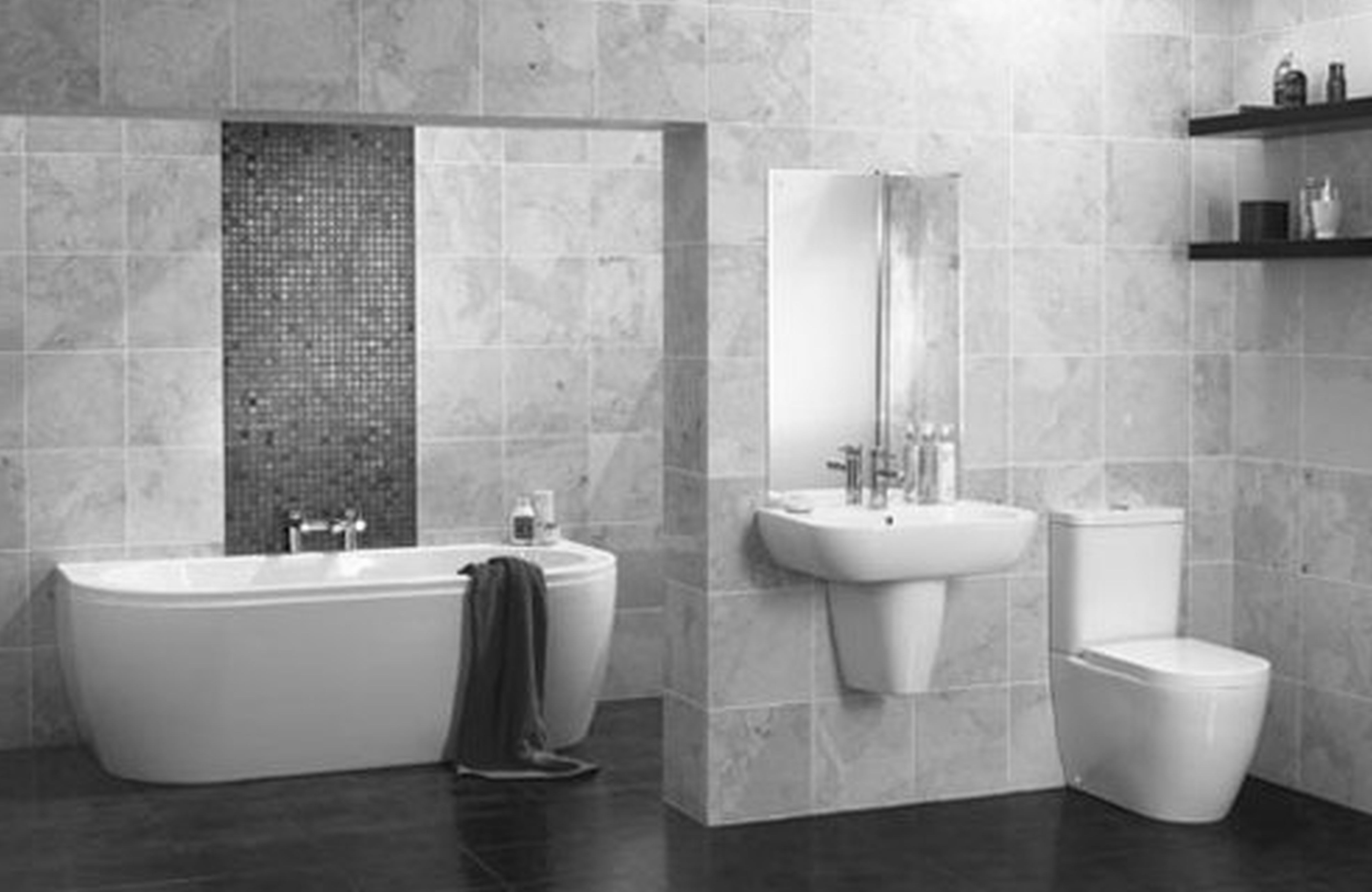 Bathroom design: modern black and white master ensuite this ...