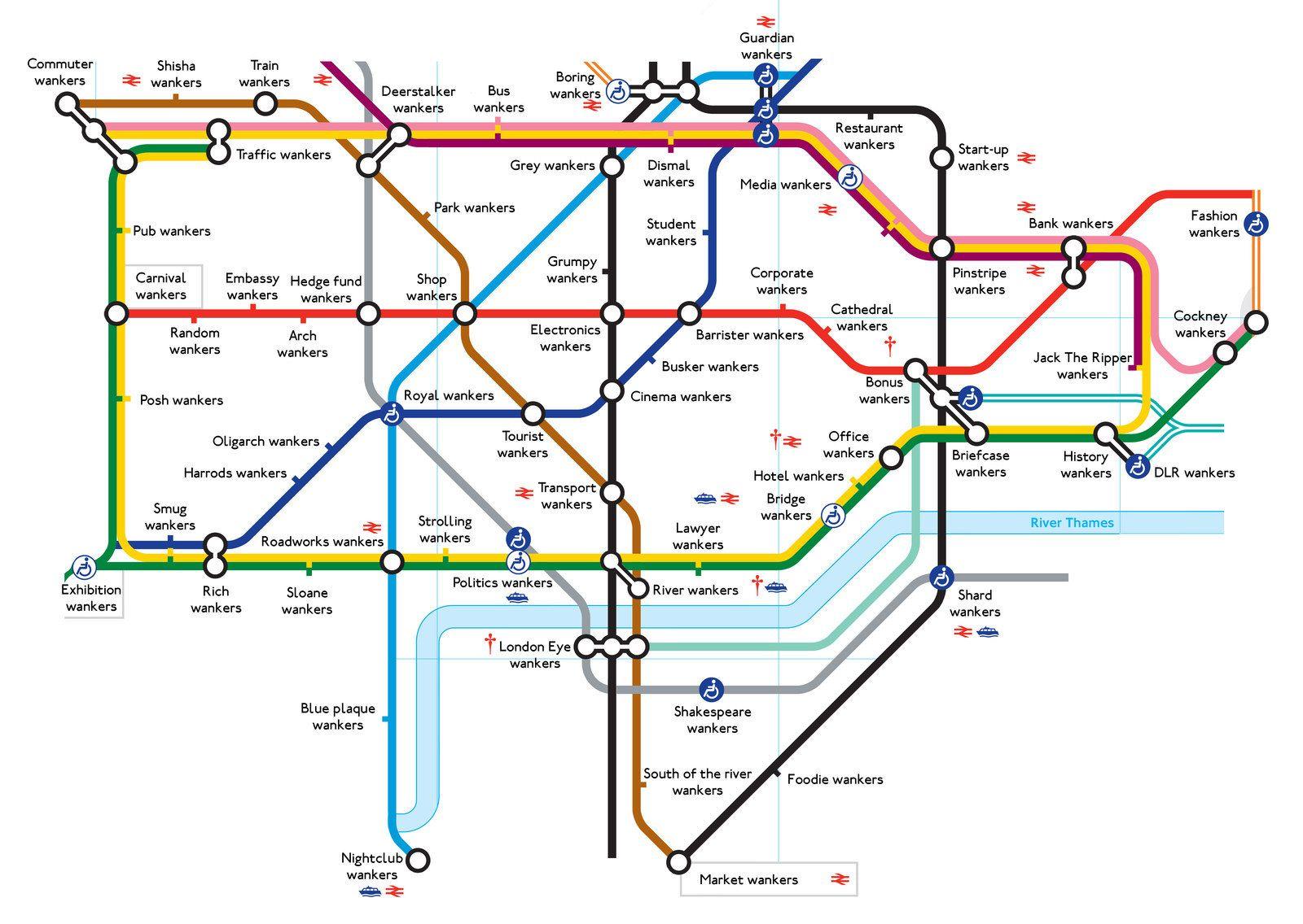 The Wanker Map Of London  Stupid stuff Funny stuff and Humor