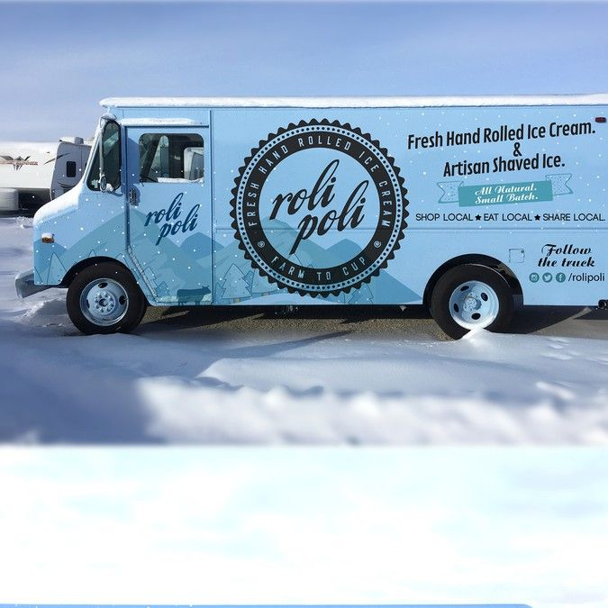 Hot design for a cool truck - Ice Cream and Shaved Ice by RB_studio