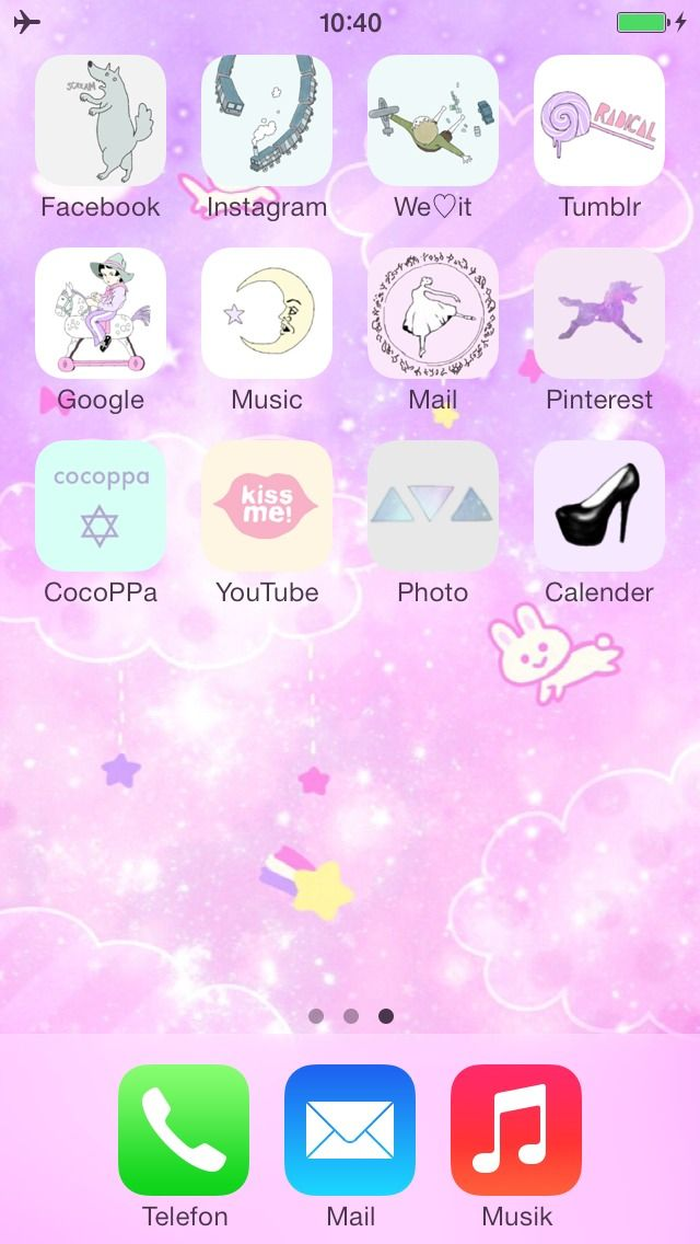 My Iphone Home Screen Made With Cocoppa Cocoppa Iphone Cute Icon Wallpape Cute Home Screen Wallpaper Tumblr Iphone Wallpaper Iphone Homescreen Wallpaper