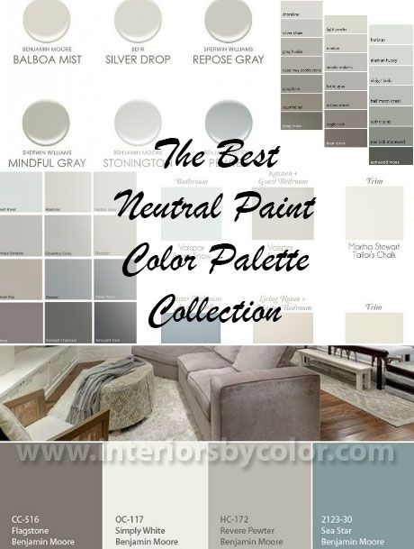 Best neutral paint color palettes for your entire house for Good neutral paint color for whole house