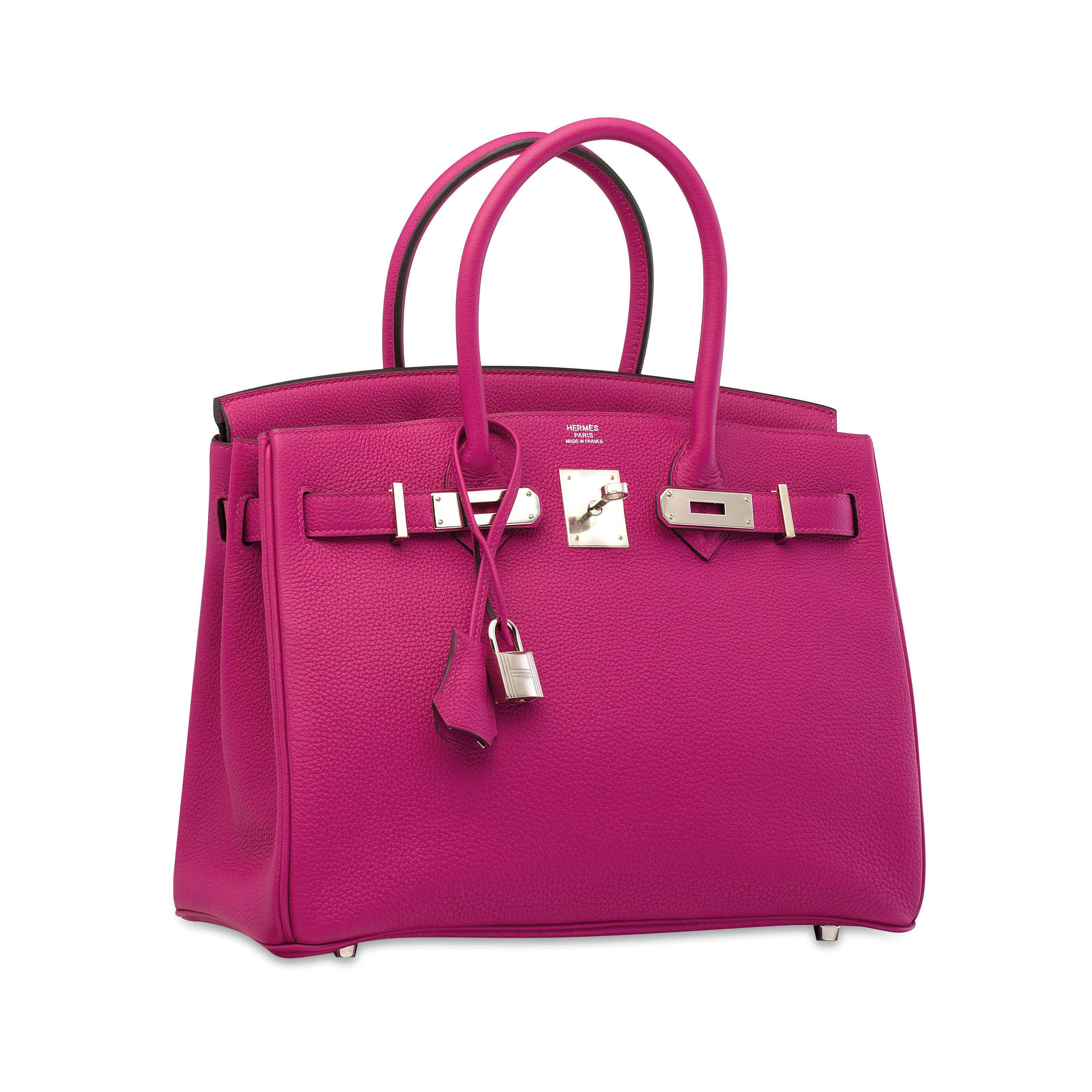 3438ab63d7 A ROSE POURPRE TOGO LEATHER BIRKIN 30 WITH PALLADIUM HARDWARE ...
