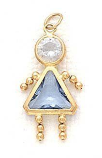 14k 7mm Girl March Birthstone CZ Pendant - JewelryWeb JewelryWeb. $131.20. Save 50%!