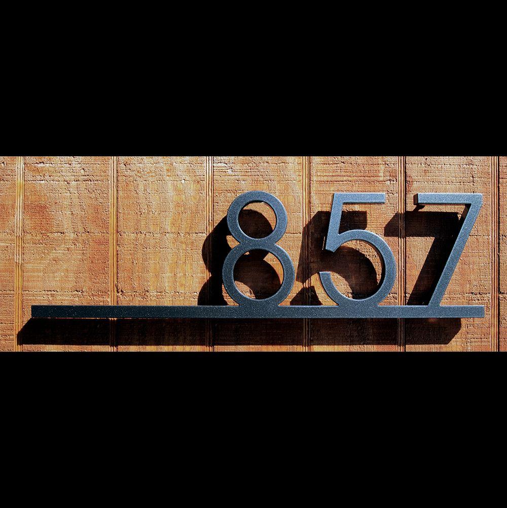 Custom Minimalist Underline House Number Sign In Aluminum Vuemont