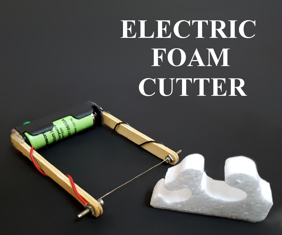 How to Make Electric Foam Cutter | Foam cutter, Stationary and Knives