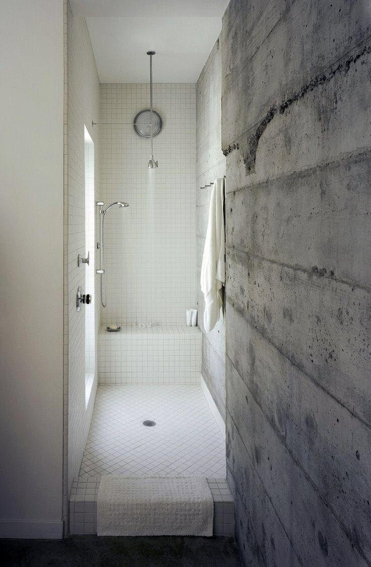 Layered concrete walls | Bathroom/Sauna | Pinterest | Concrete walls ...