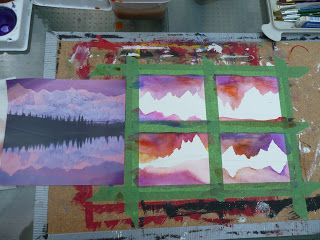 that artist woman: Mini Landscapes- A lesson in Horizon Lines