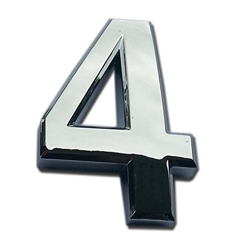 Magicdo Small Silver Modern Mailbox number modern house numbers