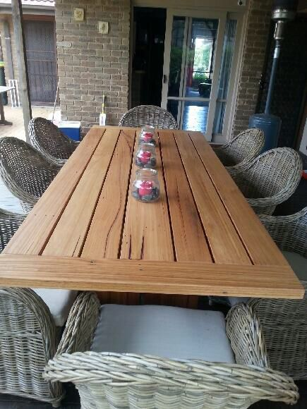 Recycled Hardwood Timber Outdoor Table Outdoor Tables Outdoor