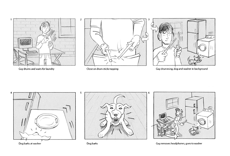 how to make a storyboard for a commercial