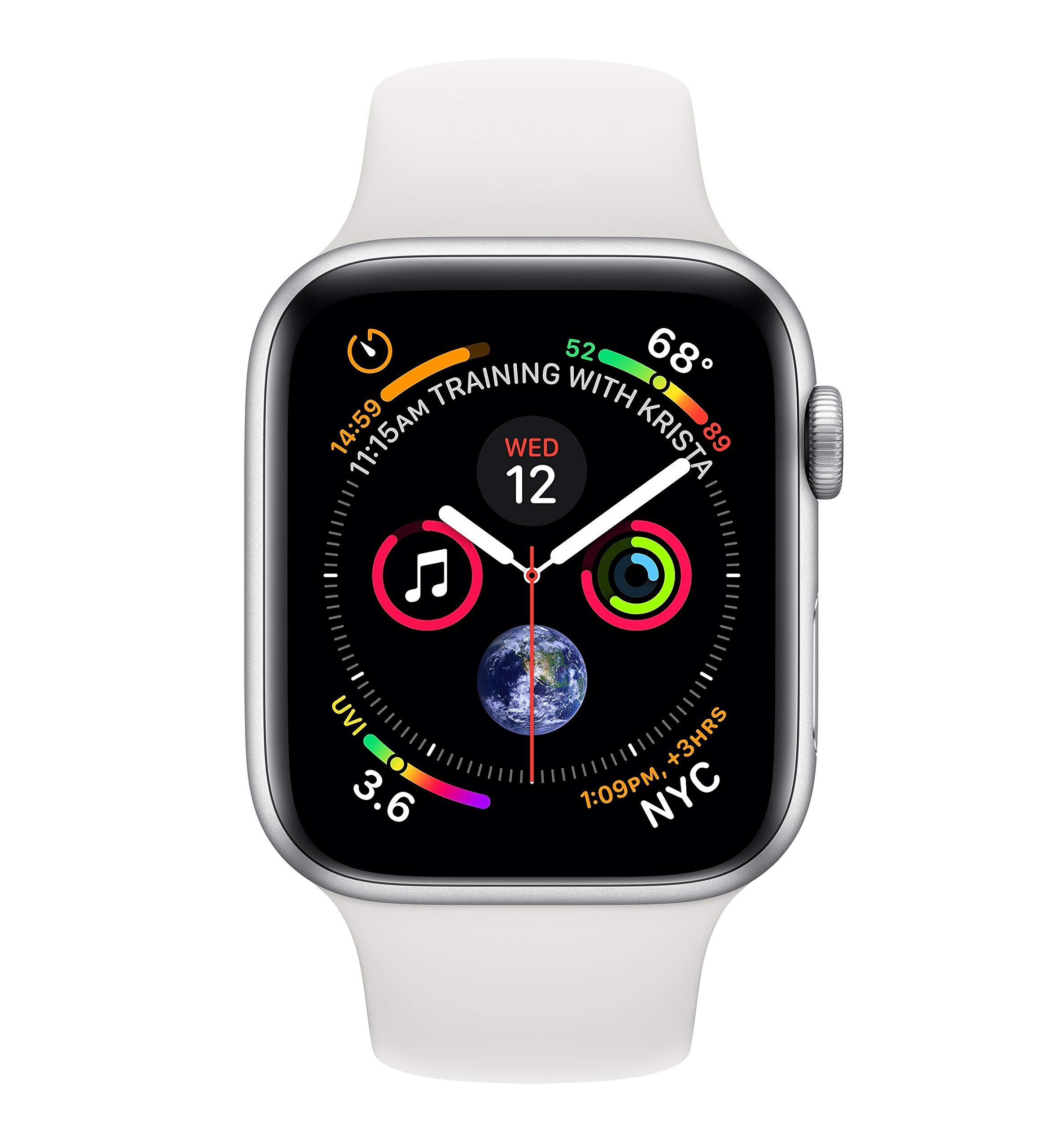 Apple Watch Series 4 Gps Cellular 40 Mm Aluminiumgehause Silber Mit Sportarmband Weiss Smartwatch Apfeluhr Apple Watch Kaufen