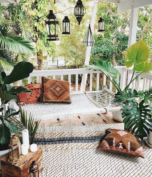 Bohemian Dreams In This Little Boho Jungle Patio Follow Shophesby For More Inspiration