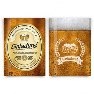 #Einladungskarten Als #Bier Etikett Im Spritzigem Gold. Mit Eigenem Text.  Auf Http