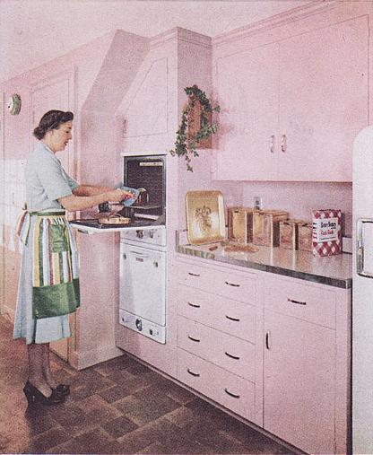 Pink Kitchen - c. 1952   Pink Retro Kitchens in 2019   Pink ...