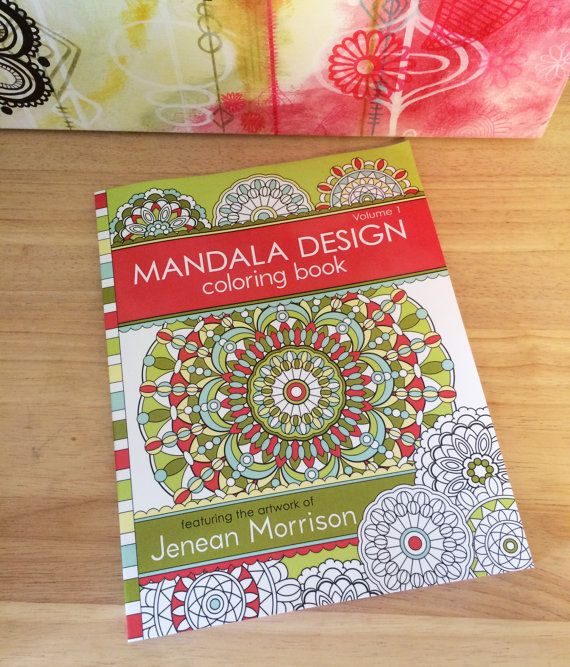 Mandala+Design+Coloring+Book+Volume+One+by+JeneanMorrison+on+Etsy,+$12.00