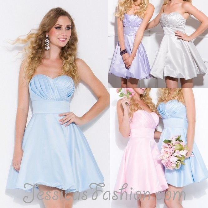 Short Bridesmaid dress in color Turquoise, Ivory, Silver & more ...