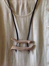 Photo of Driftwood and leather only – Driftwood and beach stone jewelry by Tes. Κοσμή …