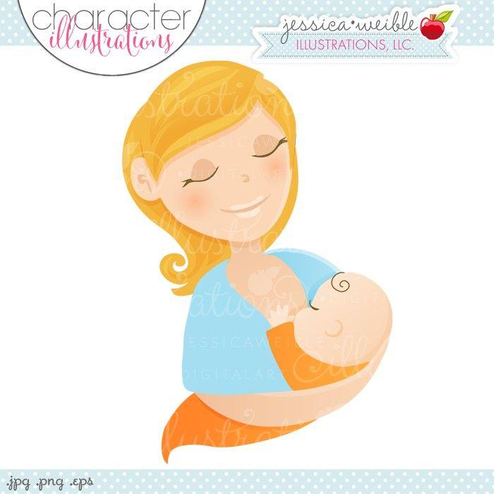Woman Breastfeeding Character Illustration - JW Illustrations ...