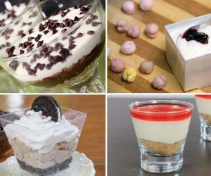 حلى تشيز كيك بارد بالكاسات Desserts Food Pudding