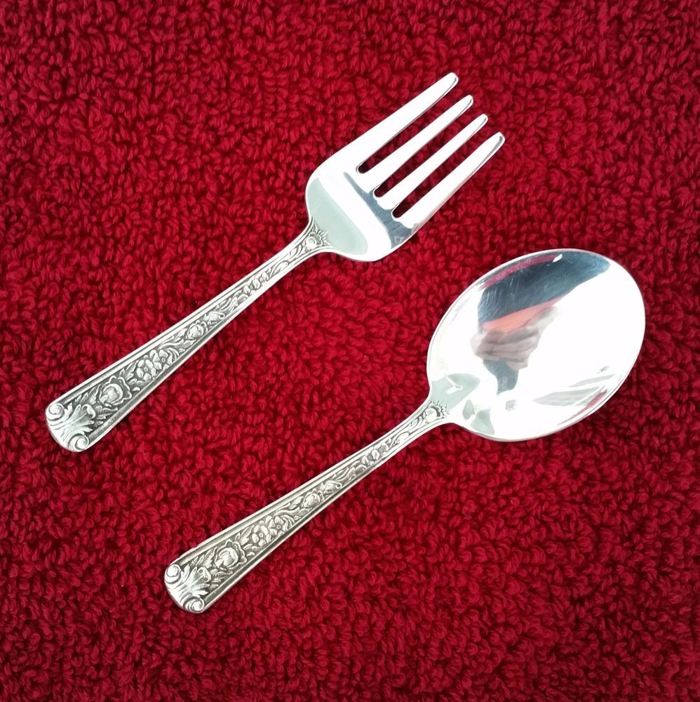 Sterling Silver Baby /& Child/'s Fork with monogram