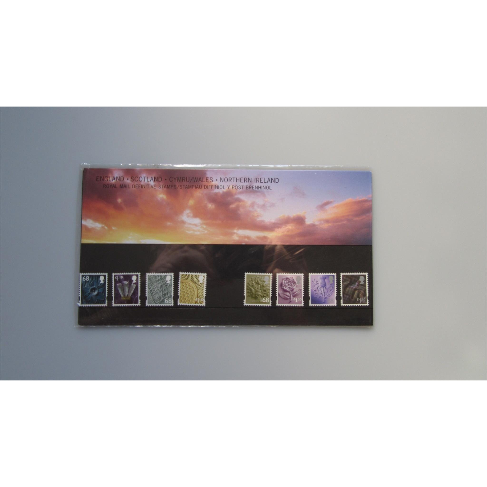 2011 gb presentation pack royal mail definitive stamps