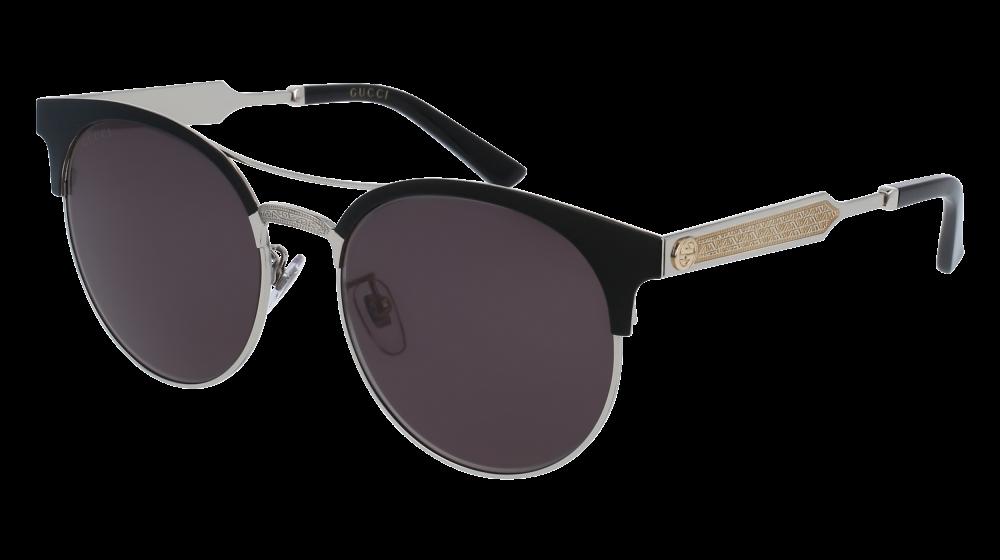 f8d537ea01b Gucci - GG0075S-001 Black Silver Sunglasses   Grey Gradient Lenses ...